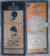 Carte Géographique MICHELIN - N° 073 CLERMONT Fd-LYON - 1948-2 - Roadmaps