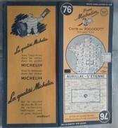 Carte Géographique MICHELIN - N° 076 AURILLAC / St ETIENNE - 1951 - Roadmaps