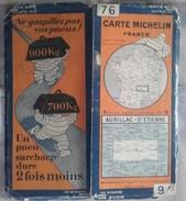 CARTE GÉOGRAPHIQUE Michelin - N° 76 AURILLAC / St ETIENNE N° 2831-410 - Roadmaps