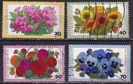 BRD 1976 Wohlfahrt Gartenblumen Kompletter Satz Michel 904 / 907 - Gebruikt