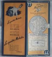 Carte Géographique MICHELIN - N° 077 VALENCE / GRENOBLE - 1953 - Roadmaps