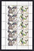 Australia 1998 Endangered Birds $4.50 Sheetlet CTO - Used Stamps