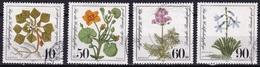 BRD 1981 Wohlfahrt Gefährdete Moor-umpfwiesen- Und Wasserpflanzen Kompletter Satz Michel 1108 / 1111 - Gebruikt
