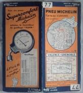 Carte Géographique MICHELIN - N° 077 VALENCE / GRENOBLE - N° 3448-104 - Roadmaps