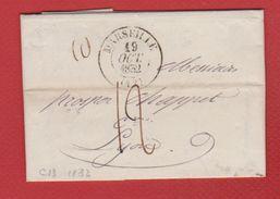 Lettre   / De Marseille  / Pour Lyon   / 19 Octobre 1832 - Postmark Collection (Covers)