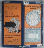 CARTE GÉOGRAPHIQUE Michelin - N° 77 VALENCE / GRENOBLE N° 2929-41 - Roadmaps