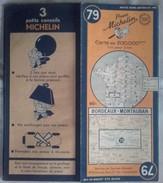 CARTE GÉOGRAPHIQUE Michelin - N° 79 BORDEAUX / MONTAUBAN - 1948 - Roadmaps