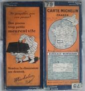 CARTE GÉOGRAPHIQUE Michelin - N° 79 BORDEAUX / MONTAUBAN - N° 2817-310 - Roadmaps
