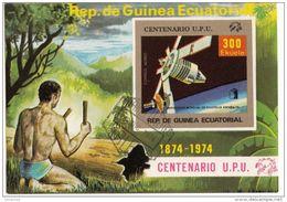 Bf. 139 Guinea Equatoriale 1974 Space Satellite U.P.U. Tamburo Spazio Sheet Imperf. Ecuatorial - FDC & Commemoratives