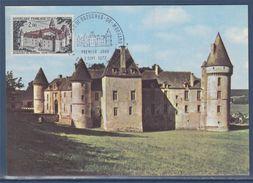 = Château 58 Bazoches Du Morvan Nièvre 02 09 1972 Carte Postale 1er Jour N°1726 - Cartoline Maximum