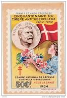 ERINNOPHILIE GRAND TIMBRE 500 Francs 1954 Einar HOLBOLL Cinquantenaire Antituberculeux Raoul Serres - Organisations