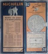 Carte Géographique MICHELIN - N° 82 PAU / TOULOUSE - 1948 - Roadmaps