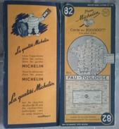 Carte Géographique MICHELIN - N° 82 PAU / TOULOUSE - 1951 - Roadmaps