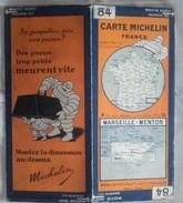 CARTE GÉOGRAPHIQUE Michelin - N° 84 MARSEILLE - MENTON N° 2926-554 - Roadmaps