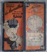 CARTE GÉOGRAPHIQUE Michelin - N° 84 MARSEILLE - MENTON N° 132-3540 - Roadmaps