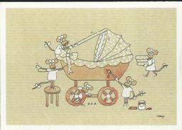 Faire-part De Naissance - Carte 2 Volets 15 X 10,5 - Illustration Signée Nony - - Birth & Baptism