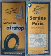 Carte Géographique MICHELIN - N° 100 SORTIES De PARIS - 1954 - Roadmaps