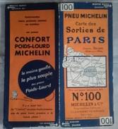 Carte Géographique MICHELIN - N° 100 SORTIES De PARIS - N° 3214-63 - Strassenkarten