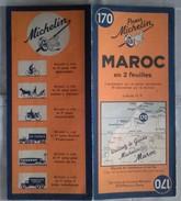 Carte Géographique MICHELIN - N° 170 MAROC En Deux Feuilles- 1941 - Roadmaps