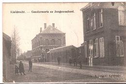 KIELDRECHT GENDARMERIE EN JONGENSSCHOOL Feldpost 1915 Re610/d4 - Beveren-Waas