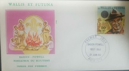 O) 1982 WALLIS AND FUTUNA, SCOUTS, FOUNDER BANDEN POWELL, FDC XF - FDC