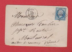 Enveloppe  / De Epinal /  Pour Montuirat   / 22 Octobre 1862 - 1849-1876: Période Classique