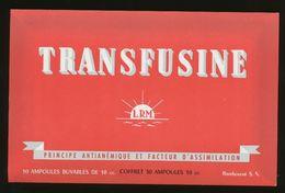 Buvard  - TRANSFUSINE - Produits Pharmaceutiques