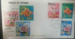 O) 1982 WALLIS AND FUTUNA, FLOWERS, FDC XF - FDC