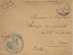 1915- Enveloppe En F M - HOPITAL TEMPORAIRE  N° 40 * SABLE ( Sarthe ) * - Postmark Collection (Covers)