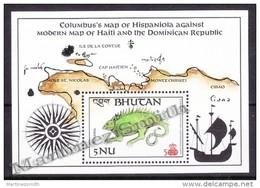 Bhutan - Bhoutan 1987 Yvert BF 130, Christopher Columbus 500th Anniversary - Miniature Sheet - MNH - Bhután