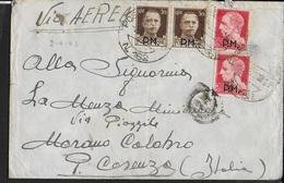 POSTA MILITARE - BUSTA PER VIA AEREA DA PM 162 (SIRA-CICLADI) (p.2) 02.09.1943 PER MORANO CALABRO (CS) - 1900-44 Vittorio Emanuele III