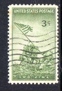 STATI UNITI 1945 , Yvert N.  481  (Un. 717)  Usato .  Ivo Jima - Stati Uniti