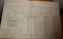 Plan Du Viaduc De La Fure. Chemin De Fer De Saint Rambert à Grenoble. 1856. - Public Works