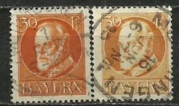 Bayern, Nr. 99 I+II, Gestempelt - Bavaria