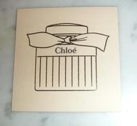 Carte Parfumée Chloé - Perfume Cards