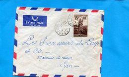 Marcophilie-Comores-lettre -> France--cad Moroni-1954 -stamps N°10 Anjouan - Comores (1950-1975)