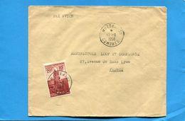 Marcophilie-Comores-lettre -> France--cad Mutsamudu-1958 -stamps N°11 Anjouan - Comores (1950-1975)