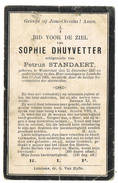 Lembeke : 1906, Sophie Dhuyvetter ( 2 Scans) - Images Religieuses