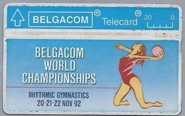 BE.- België. Telecard.- BELGACOM. BELGACOM WORLD CHAMPIONSHIPS. RHYTHIC GYMNASTICS. 230B70587 - GSM-Kaarten, Herlaadbaar & Voorafbetaald