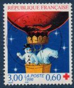 3039a Croix Rouge (1996) Oblitéré Cachet Rond Daté - France