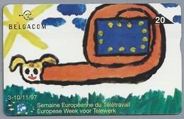 BE.- België. Telecard.- BELGACOM. Semaine Européenne Du Télétravail. Europese Week Voor Telewerk. - 729B70087 - GSM-Kaarten, Herlaadbaar & Voorafbetaald