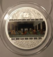 Cook Islands 20 $ Masterpieces Of Art 2008 Leonardo Da Vinci - The Last Supper.Silver 93.3gr,mintage 1500,15 Swarowski - Cook