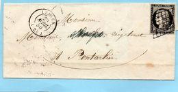 N° 3a Oblitération Grille,cad LEVIER (24) - 1849-1876: Klassik