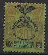 Nouvelle Calédonie 1903 N° 74 Neuf * Cinquantenaire De La Présence Française Cote 27 Euros - Nouvelle-Calédonie