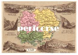 83  Draguignan   Carte Du Département - Draguignan