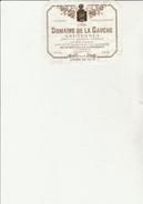 ETIQUETTE VIN -SAUTERNES -DOMAINE DE LA GAUCHE 1998 - CREME DE TETE - BARO -PROPRIETAIRE - Bordeaux