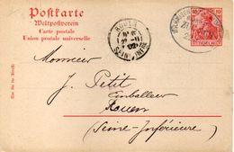 Entier Postal - 10 Marks - Oblitération De MULHOUSE - Société Anonyme D' Industrie Cotonnière (101214) - Allemagne