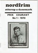 BR39 - NORDFRIM - PRIX COURANT 1970  POIDS 70gr - Catalogues De Maisons De Vente