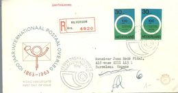 FDC 1963 REGISTERED HILVERSUM - FDC