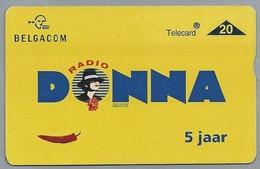 BE.- België. Telecard.- BELGACOM. RADIO DONNA. 5 JAAR. BRTN. 741B77373 - GSM-Kaarten, Herlaadbaar & Voorafbetaald
